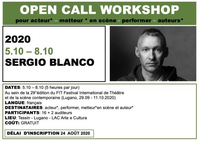 Workshop Sergio Blanco FIT