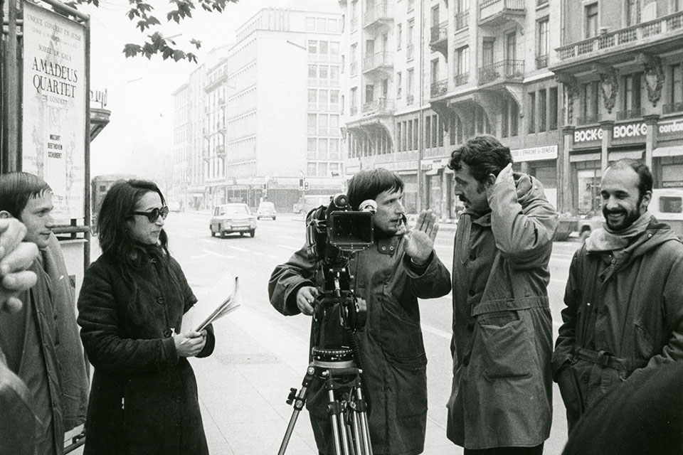 Photo de tournage de La Salamandre d'Alain Tanner