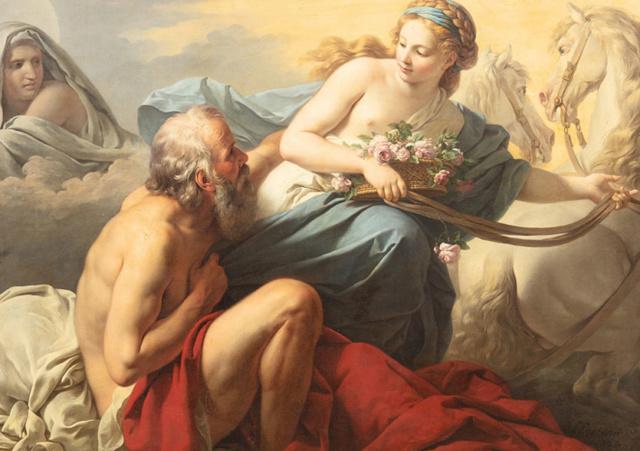 tableau de Louis Jean François Lagrenée illustrant le Mythe de Tithon